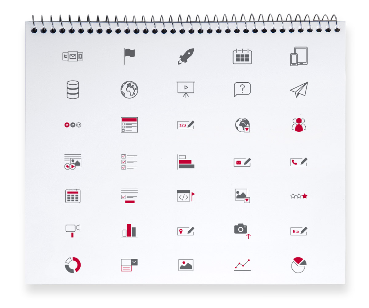 Conception d'icônes pour interface logiciel