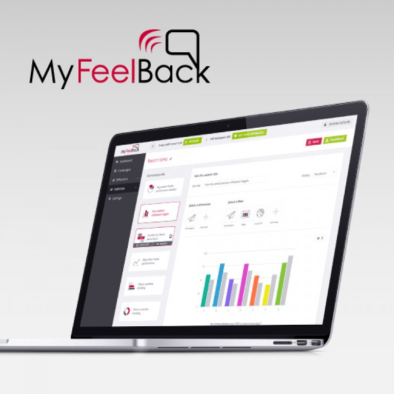MyFeelBack UI Saas software design