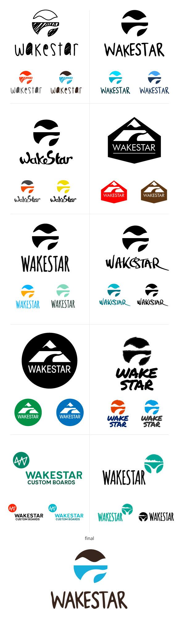 Itérations logo wakestar