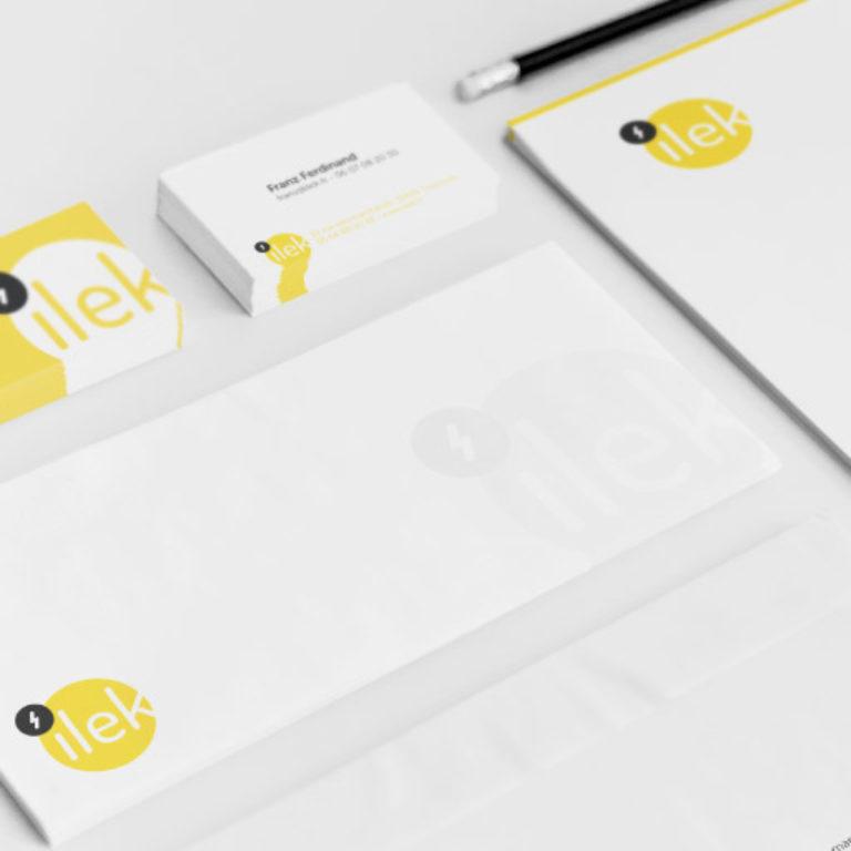 Création identité de marque startup ilek