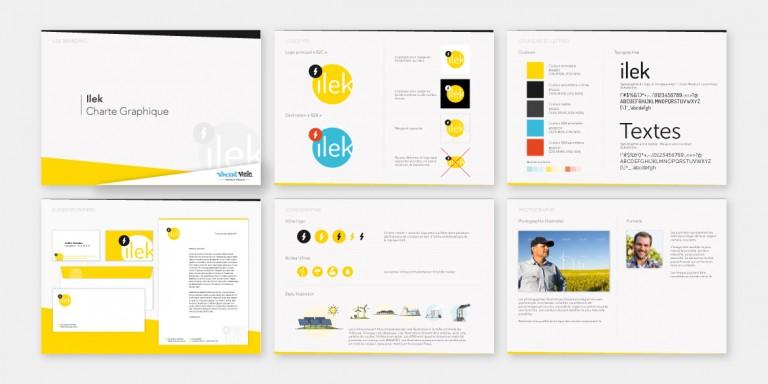 Création de la charte graphique de la startup ilek spécialisée dans l'achat / revente d'énergie