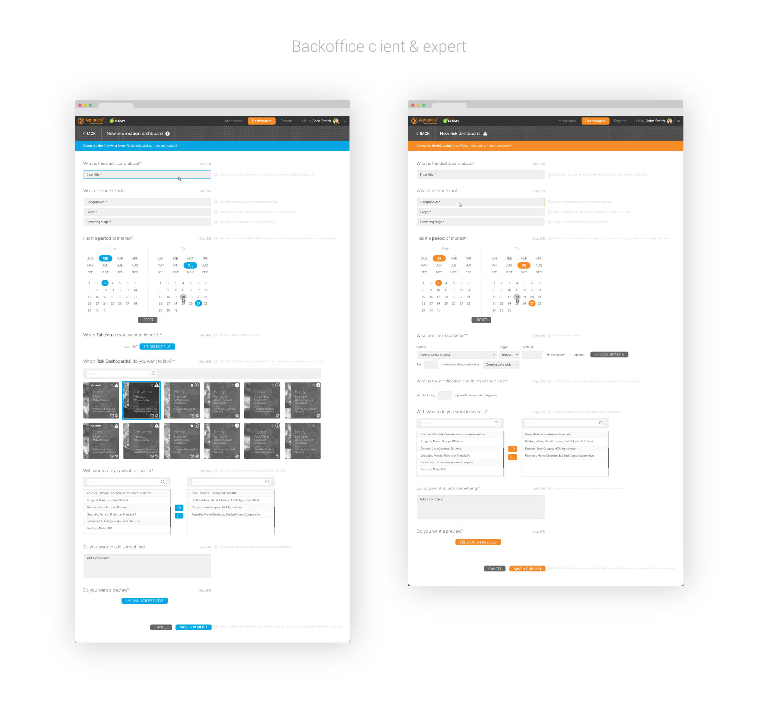 UI Design pour backoffice B2B