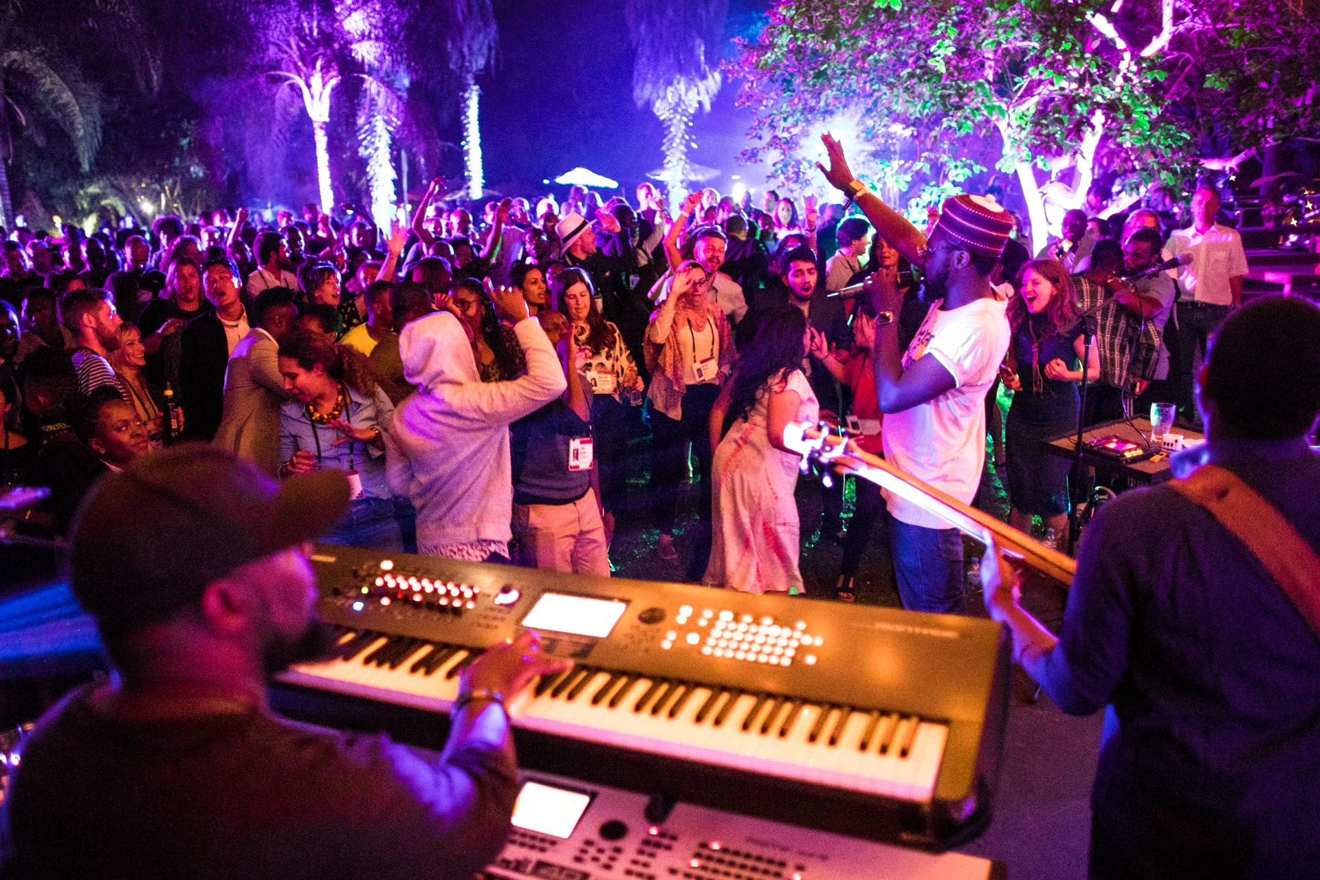 Blinky Bill Sellanga performing at the Farewell Party at TEDGlobal 2017 - Builders, Truth Tellers, Catalysts - August 27-30, 2017, Arusha, Tanzania. Photo: Ryan Lash / TED