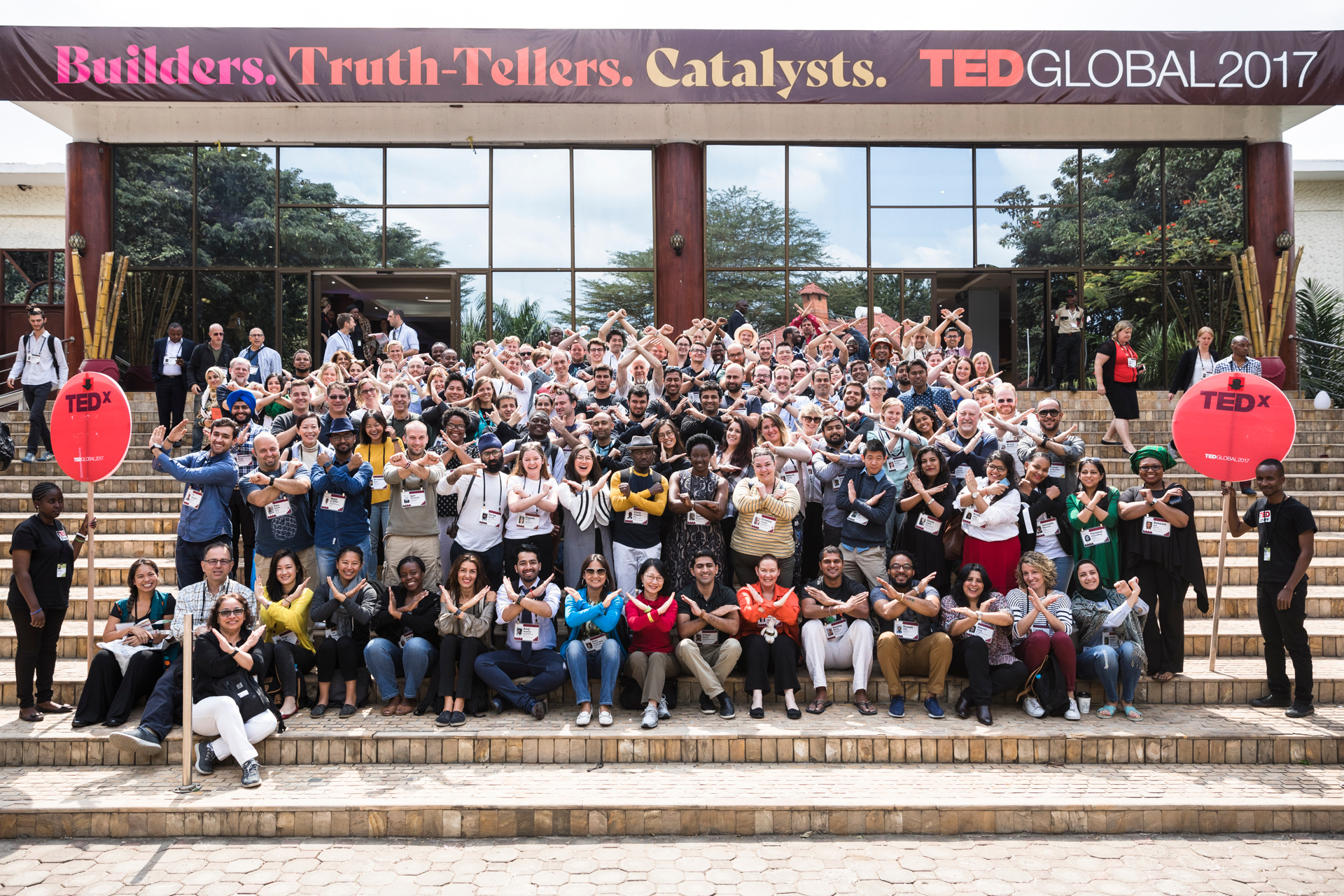TEDx Group Photo at TEDGlobal 2017 - Builders, Truth Tellers, Catalysts - August 27-30, 2017, Arusha, Tanzania. Photo: Callie Giovanna / TED